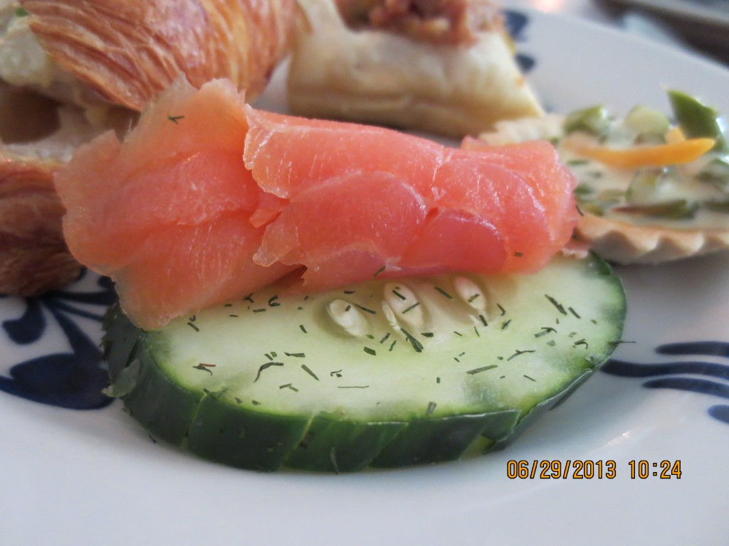 Salmon on Cucumber