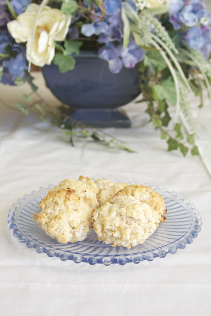 Golden Raspberry Coconut Scones