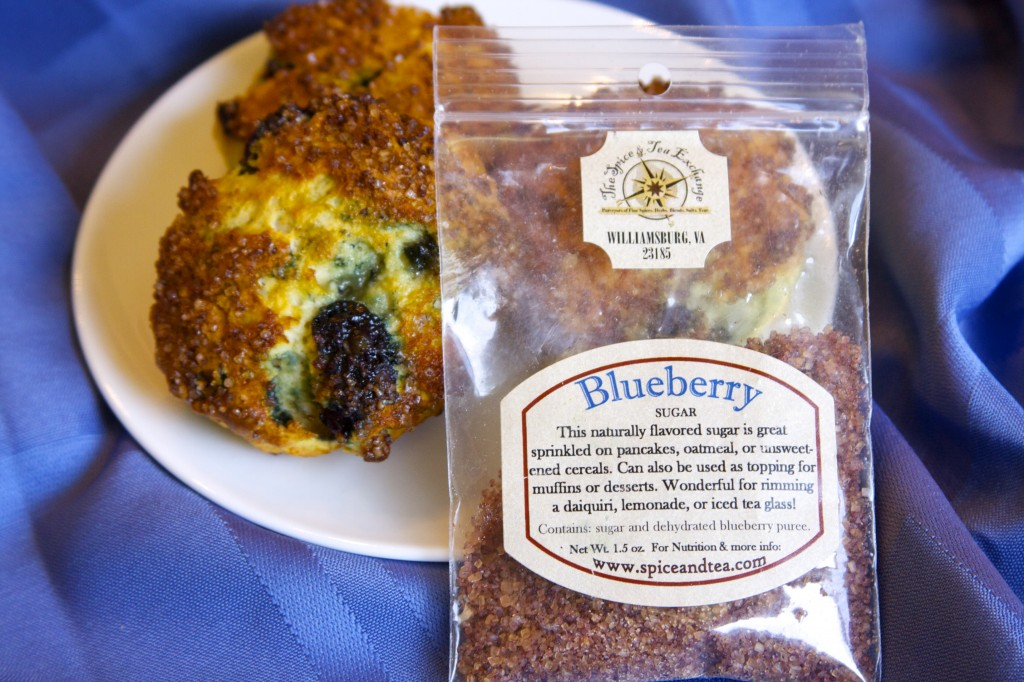 Blueberry Scones and the Blueberry Sugar