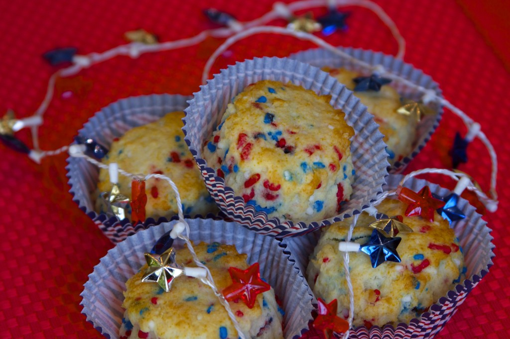 4th of July Funfetti Scones
