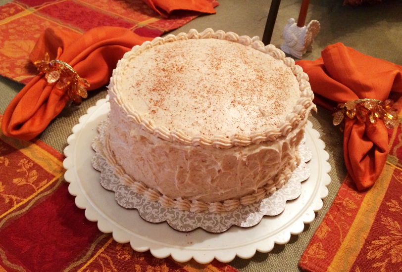 Apple Layer Cake with Cinnamon Cream Cheese Frosting