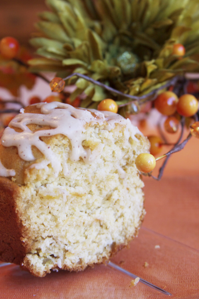 Sweet Potato Pound Cake with Brown Butter Glaze