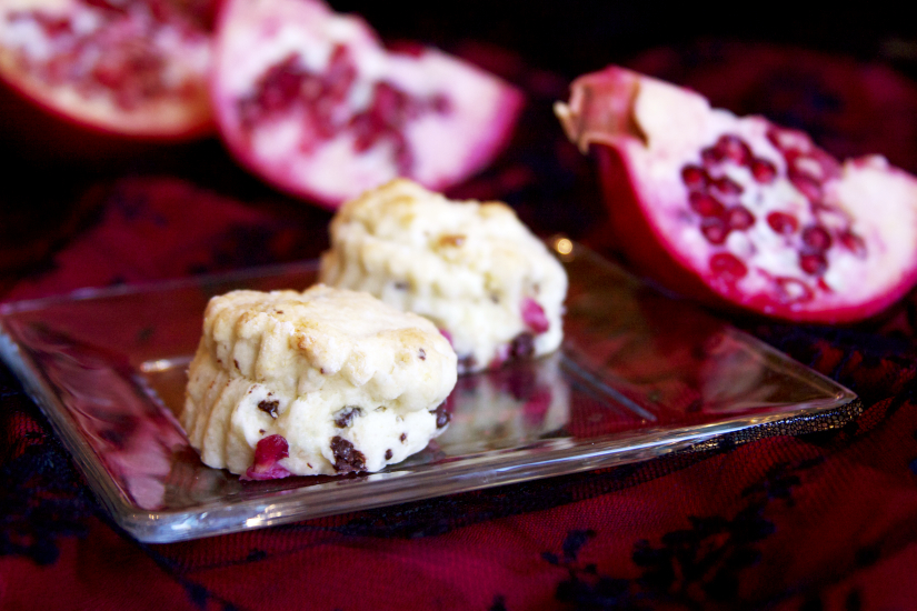 Pomegranate Dark Chocolate Scones