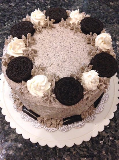 Oreo Layer Cake with Cookies n' Cream Frosting