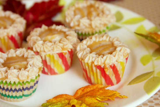 Apple Cinnamon Mini Cupcakes with Salted Caramel and Cinnamon Cream Cheese Frosting