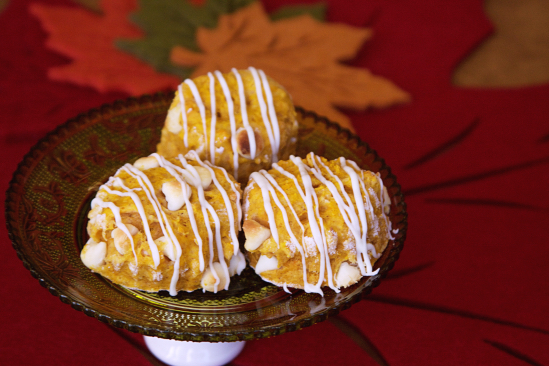 Pumpkin White Chocolate Scones