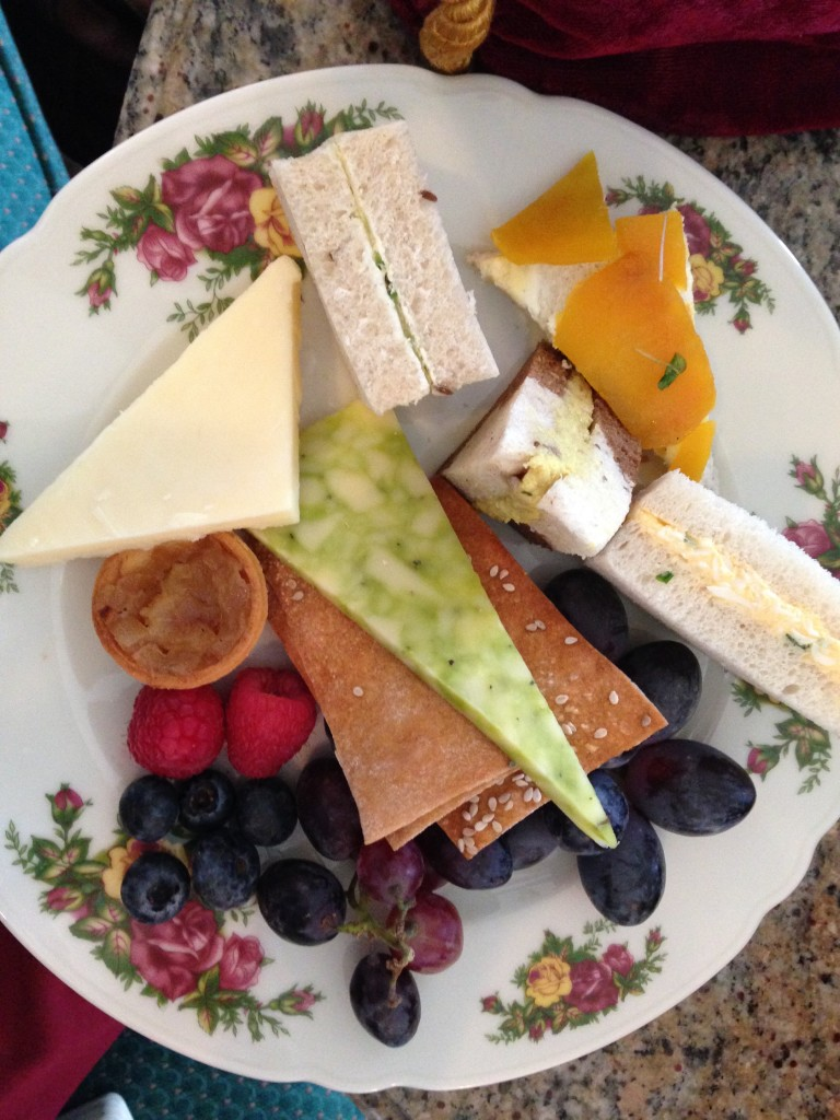 Finger Sandwiches with Cheese, Fruit, and Lavash