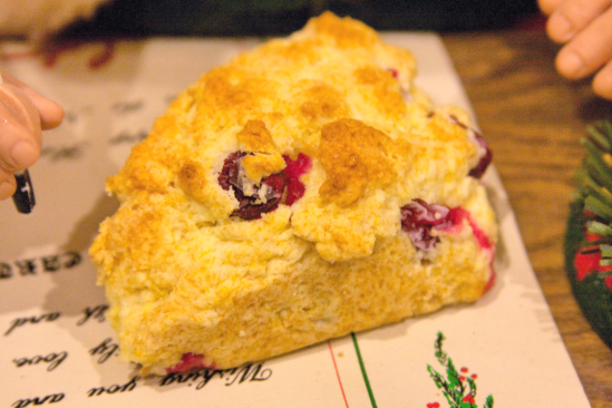 Cranberry Orange Breakfast Scones